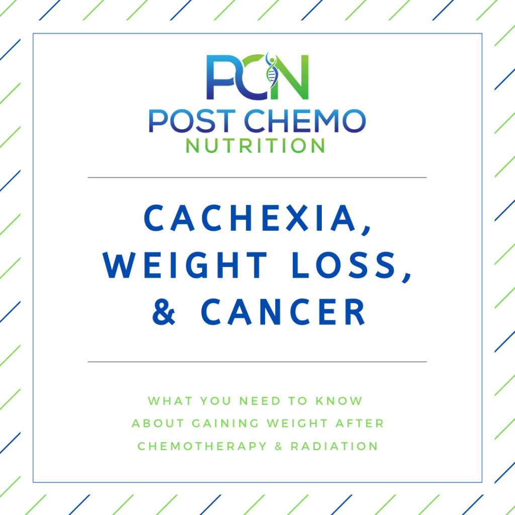 infographic describing PCNs blog post cachexia, weight loss & cancer