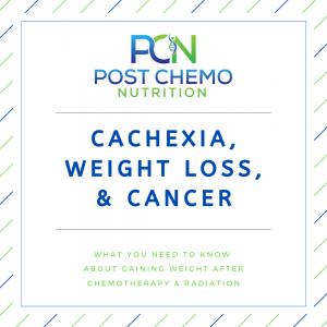 infographic describing PCNs blog post cachexia, weight loss & cancer