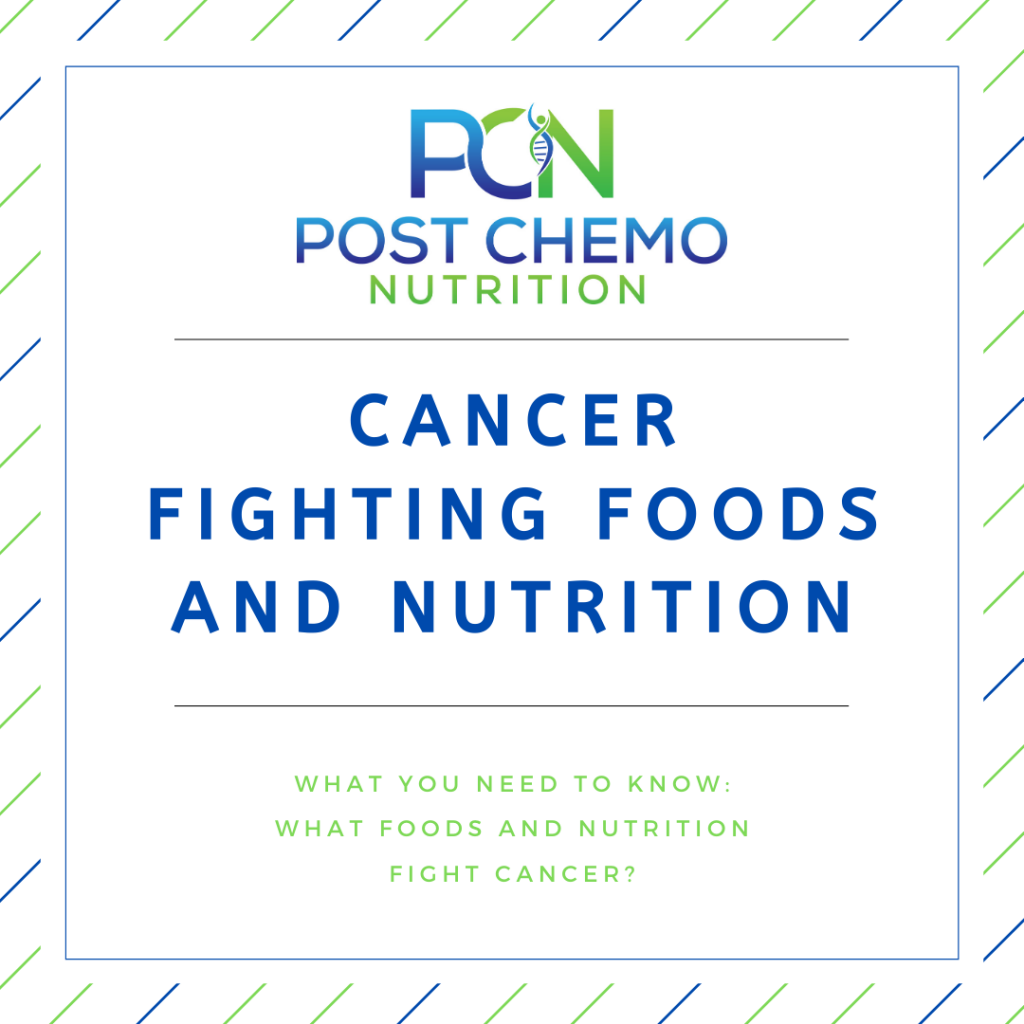 Infographic for PCN Blog Post Cancer Fighting Foods and Nutrition