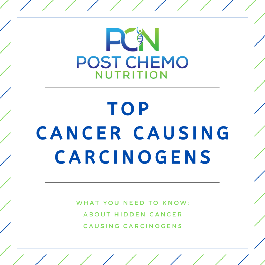 Infographic for PCN blog post Top Cancer Causing Carcinogens